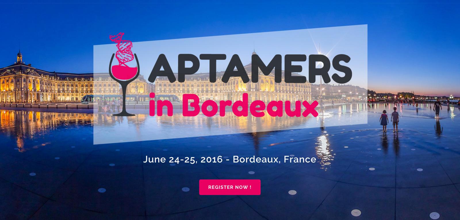 Colloque Aptamers in Bordeaux